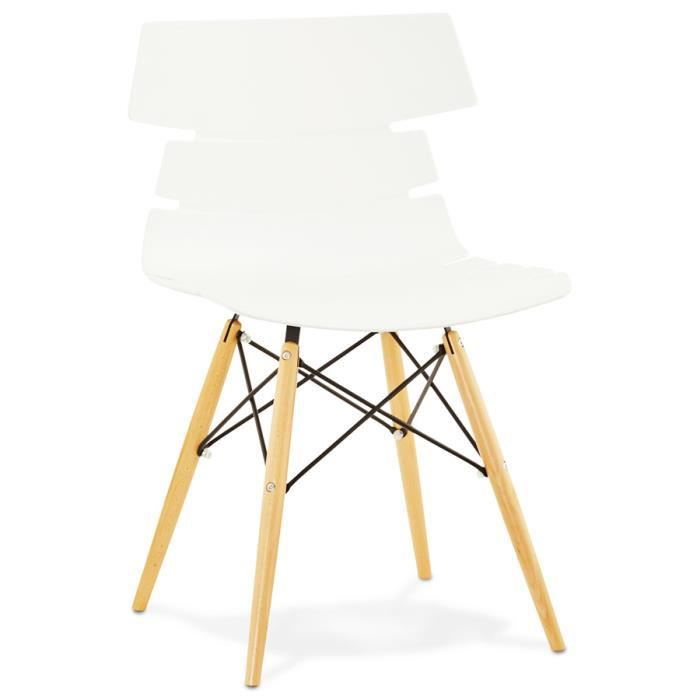 Pin chaises design noires on pinterest - Chaise moderne blanche ...