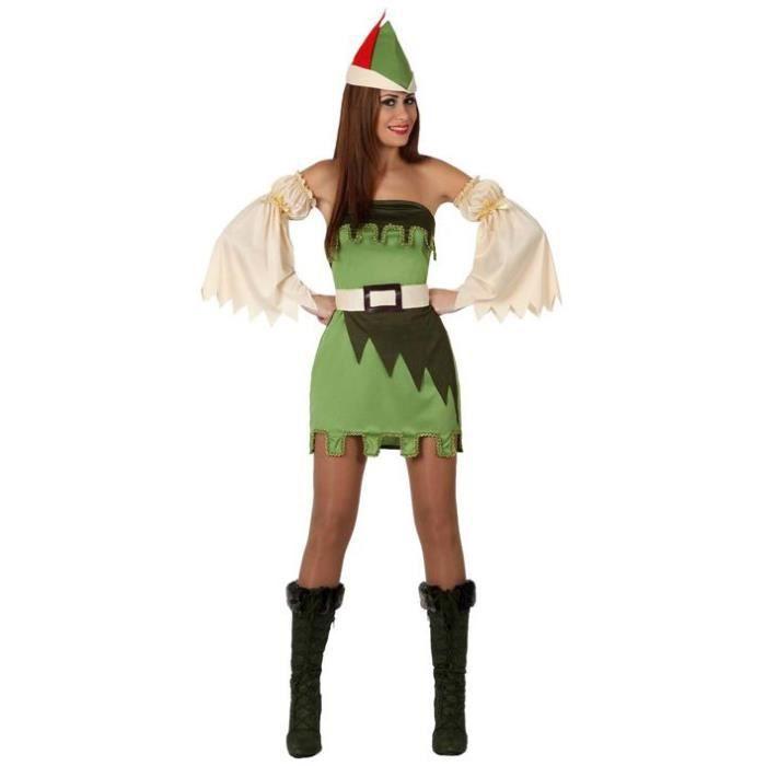 Costume robin des bois femme xs s 34 36 achat vente - Deguisement robin des bois fille ...