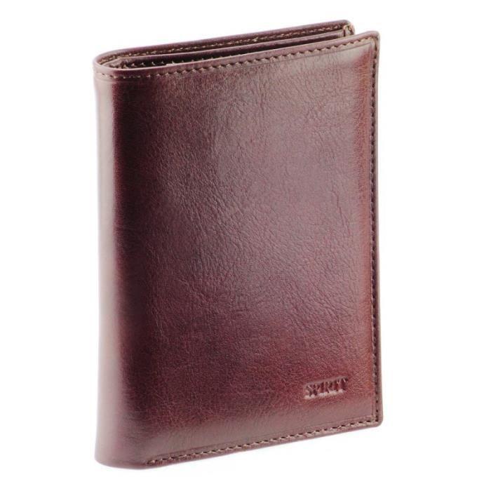 Portefeuille porte carte homme en cuir de vachette v ritable aslan chocolat - Vente de chocolat porte a porte ...