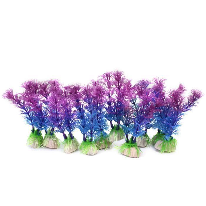10x fausse plante artificielle en plastique aquarium d coration jardin poisson achat vente. Black Bedroom Furniture Sets. Home Design Ideas