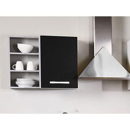 El ment haut cuisine 1 porte noir 40 x 58 cm colori - Porte element cuisine ...