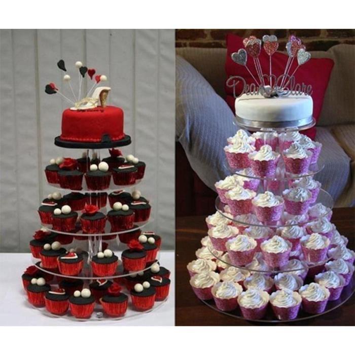 étages présentoir à gâteau transparent stand cake fête mariage ...
