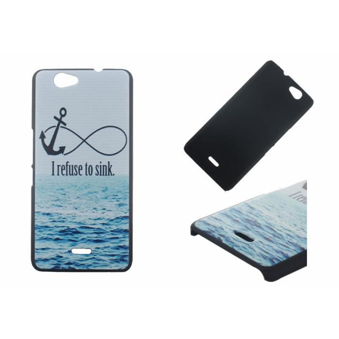 luxe bleu ancre oc an letter hard shell cover housse coque