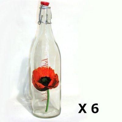 6 bouteilles de limonade 1 l avec bouchon herm achat vente pichet carafe cdiscount. Black Bedroom Furniture Sets. Home Design Ideas