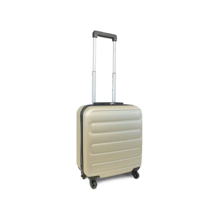 Valise Cabine Bagage Low Cost 4 Roues Rigide Champagne