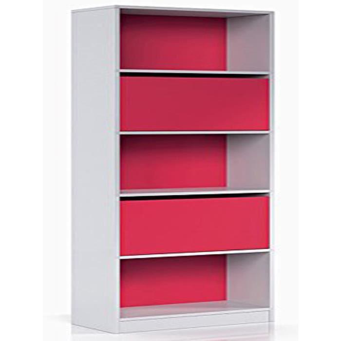 etag re avec 2 portes coloris blanc magenta achat vente meuble tag re etag re avec 2. Black Bedroom Furniture Sets. Home Design Ideas