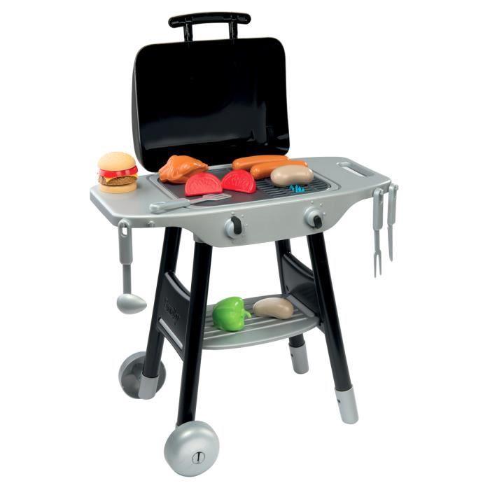 Barbecue pour enfant avec aliments et ustensiles de for Achat ustensiles cuisine
