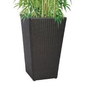 cache pot noir ext rieur h 83 cm achat vente jardini re pot fleur cache pot noir. Black Bedroom Furniture Sets. Home Design Ideas