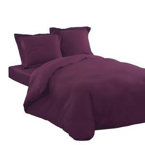 parure housse de couette 220x240 avec drap housse achat vente parure housse de couette. Black Bedroom Furniture Sets. Home Design Ideas