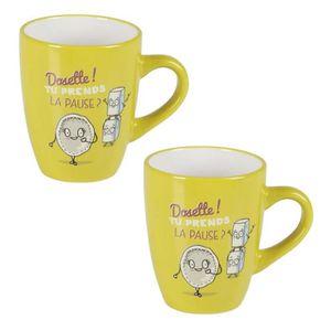 BOL - MUG - MAZAGRAN Lot de 2 mugs céramique CAFE COLOR 0,36L anis