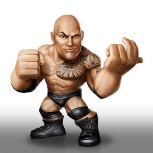 FIGURINE - PERSONNAGE Catch - Figurine WWE Wrestling The Rock 8 cm
