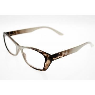 lunettes pre montees loupe avec etui souple er4 blanc marron achat vente lunettes de. Black Bedroom Furniture Sets. Home Design Ideas
