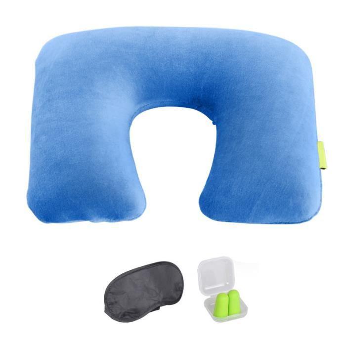 u oreiller voyage oreiller gonflable bleu cadeau correction d 39 oeil et bouchon mat riel. Black Bedroom Furniture Sets. Home Design Ideas