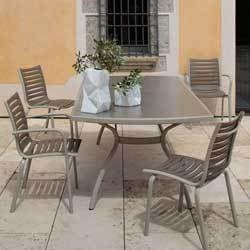 Salon repas floris 1 table rallonge 4 fauteuils achat for Salon 4 fauteuils