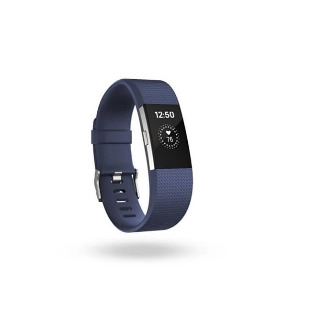 fitbit fitbit charge2 hr fitness wristband small bleu smartphonespaschers. Black Bedroom Furniture Sets. Home Design Ideas