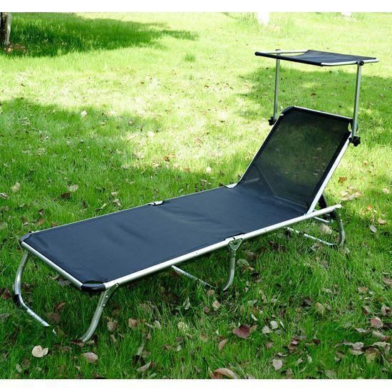 chaise longue avec pare soleil achat vente chaise