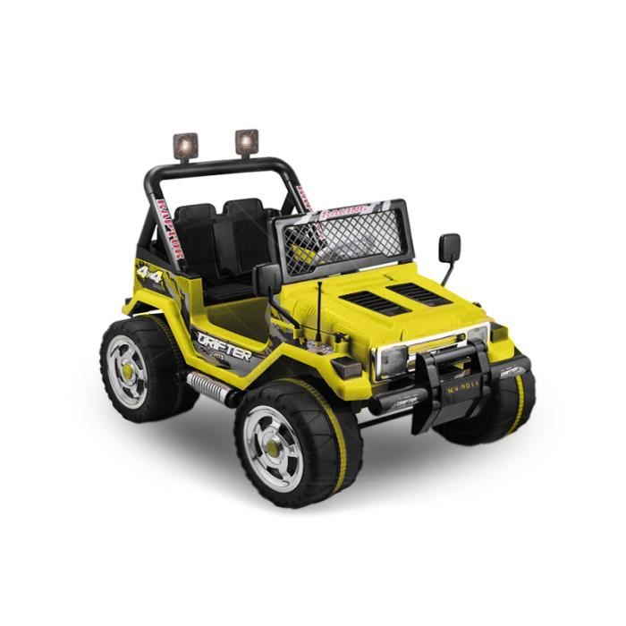 voiture lectrique pour enfant 4x4 jeep wrangler jaune achat vente voiture enfant cdiscount. Black Bedroom Furniture Sets. Home Design Ideas