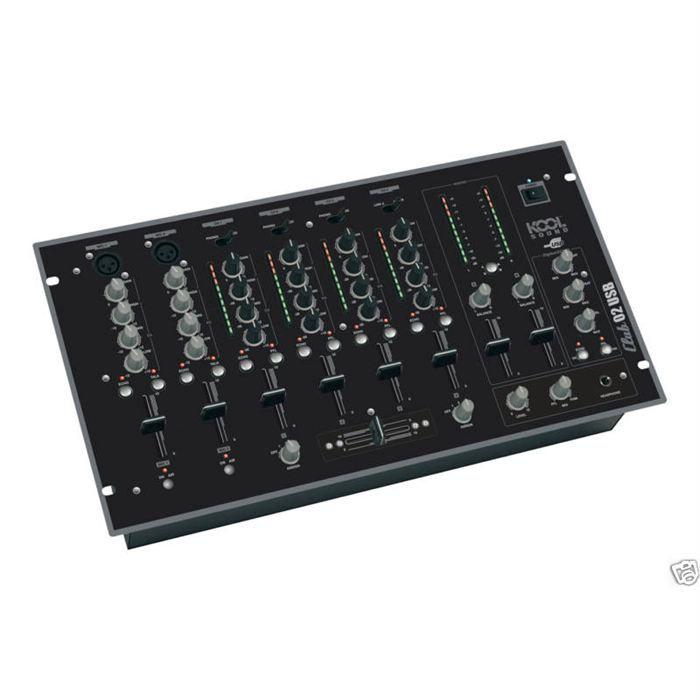 table de mixage dj club 02 usb table de mixage prix pas cher cdiscount. Black Bedroom Furniture Sets. Home Design Ideas