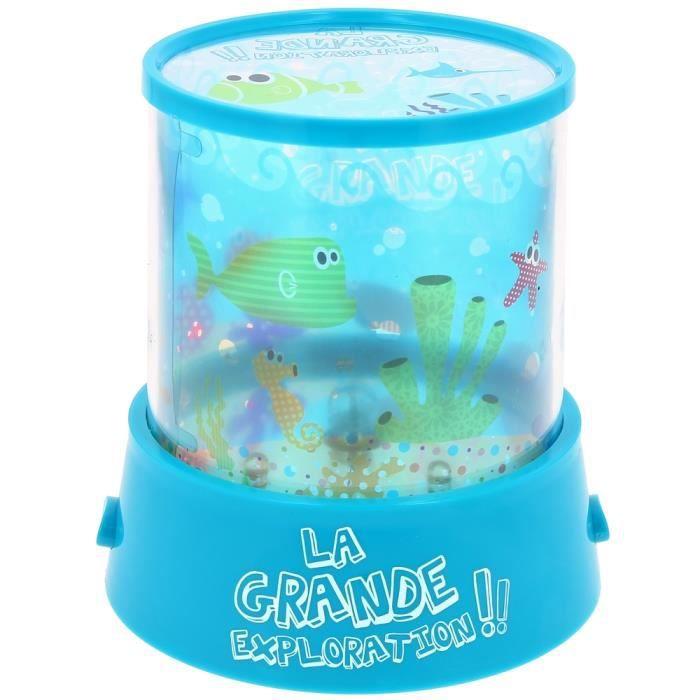 lampe veilleuse led enfant projecteur mur ludiq bleu achat vente veilleuse b b. Black Bedroom Furniture Sets. Home Design Ideas