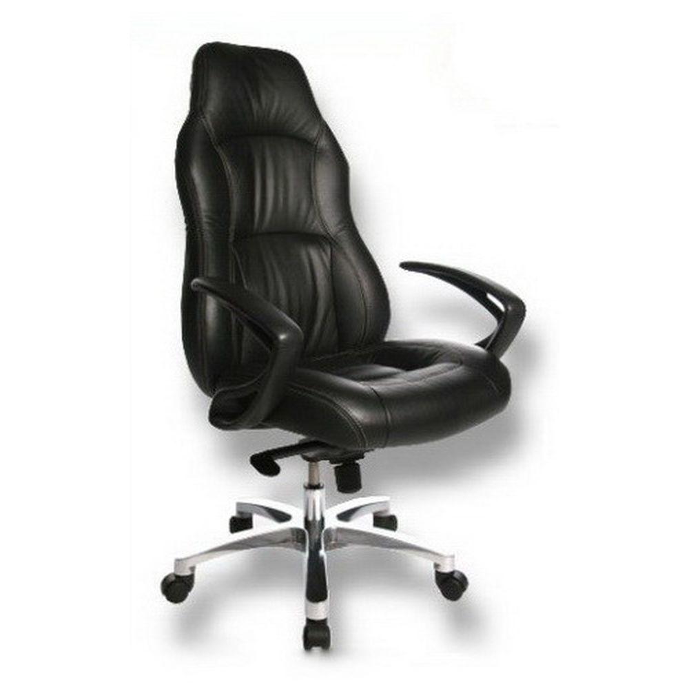 si ge de bureau fauteuil de direction office rs1 cuir noir achat vente chaise de bureau. Black Bedroom Furniture Sets. Home Design Ideas