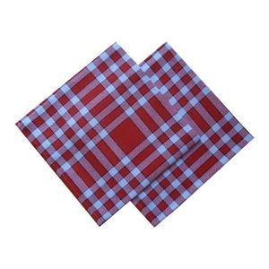 serviettes de table a carreaux achat vente serviettes de table a carreaux pas cher cdiscount. Black Bedroom Furniture Sets. Home Design Ideas