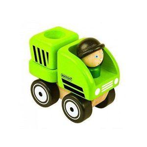 VOITURE À CONSTRUIRE Camion poubelle en bois