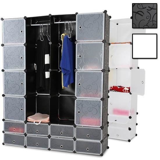rangement armoire penderie plastique modulable achat vente penderie mobile rangement armoire. Black Bedroom Furniture Sets. Home Design Ideas