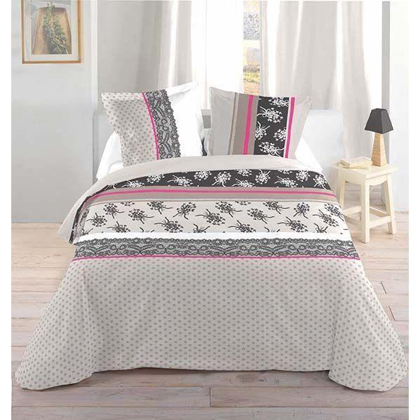 housse de couette 240x220 cm taies black achat. Black Bedroom Furniture Sets. Home Design Ideas