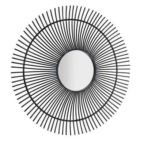 Comingb miroir curve comingb noir achat vente for Miroir noir design