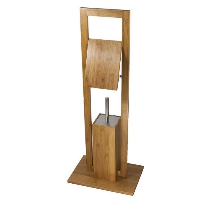 Accessoires wc bois for Accessoire bambou