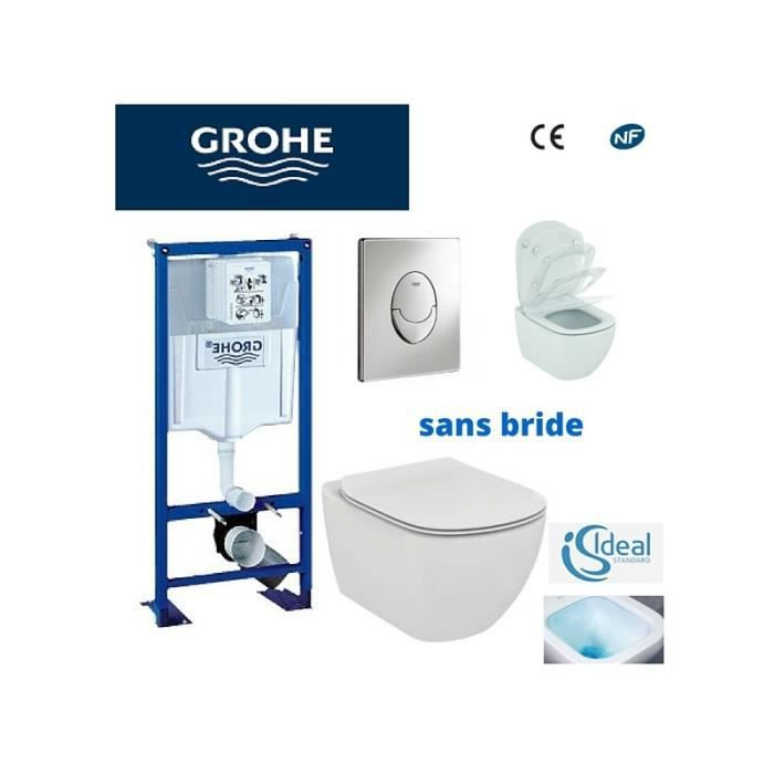 awesome cheap amazing wc toilettes pack wc grohe cuvette sans bride ideal standard with pack wc. Black Bedroom Furniture Sets. Home Design Ideas