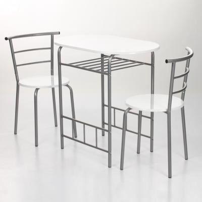 Set table 2 chaises twin coloris blanc achat vente table de cuisine set table 2 chaises for Table chaises cuisine saint paul