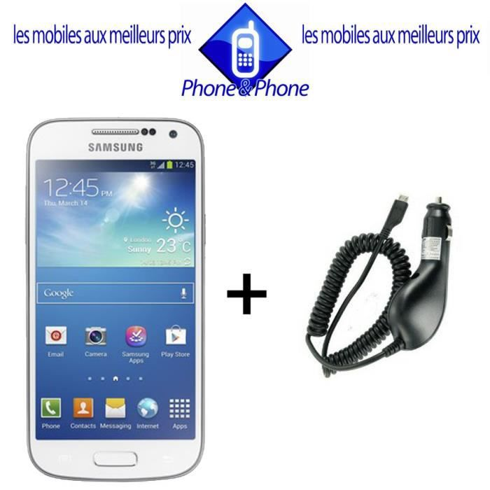 samsung s4 mini blanc neuf chargeur voiture achat. Black Bedroom Furniture Sets. Home Design Ideas