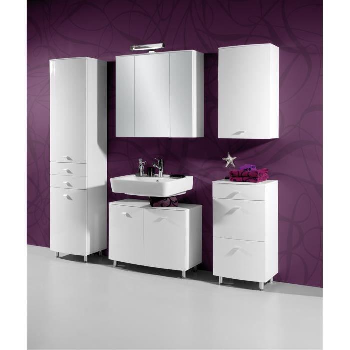 Armoire miroir de salle de bains swithome bianc achat - Miroir salle de bain rangement ...