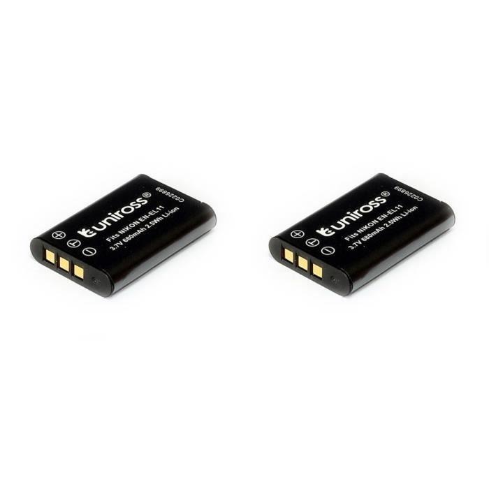 2 batteries uniross pour appareil photo nikon et ricoh. Black Bedroom Furniture Sets. Home Design Ideas