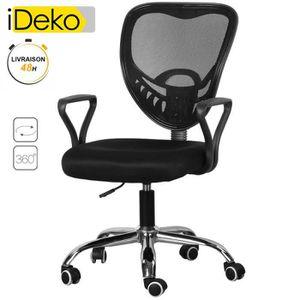 fauteuil de bureau pied metal achat vente fauteuil de bureau pied metal pas cher cdiscount. Black Bedroom Furniture Sets. Home Design Ideas