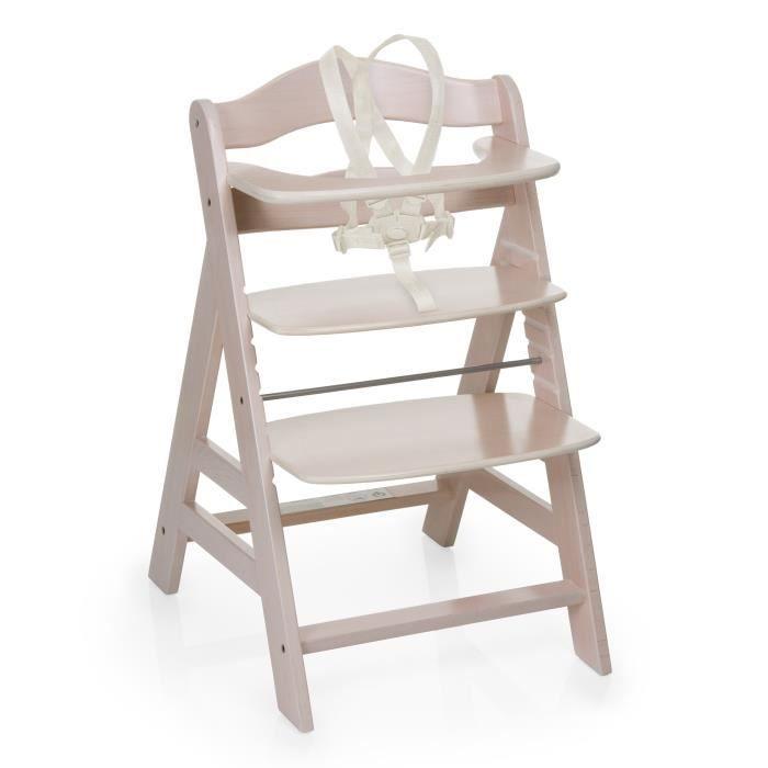 Hauck chaise haute en bois volutive alpha blanche achat vente chaise - Chaise bois evolutive ...