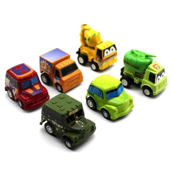 6pcs mini mod le de voitures jouet ducatif pour les. Black Bedroom Furniture Sets. Home Design Ideas