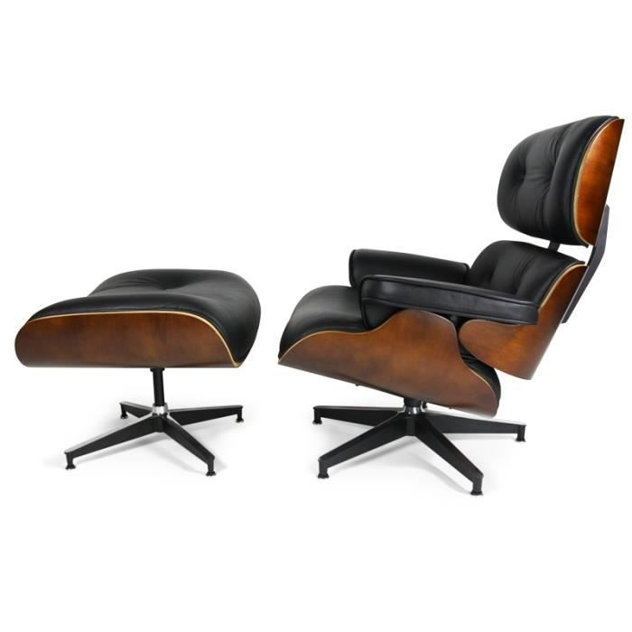 Fauteuil lounge eames noyer achat vente fauteuil for Achat fauteuil charles eames