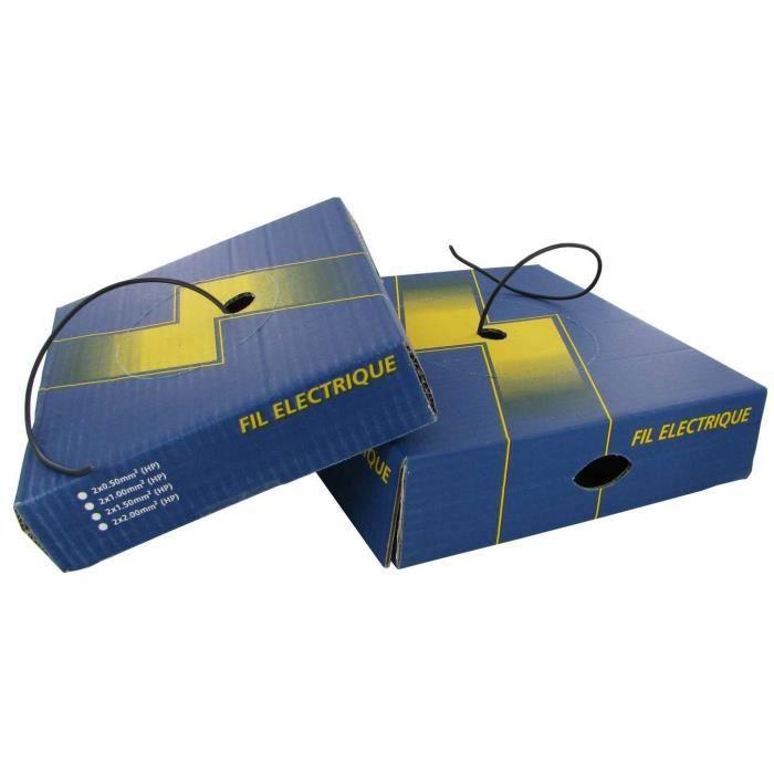fil electrique souple 4 mm noir 50 m tres achat vente c ble fil gaine cdiscount. Black Bedroom Furniture Sets. Home Design Ideas
