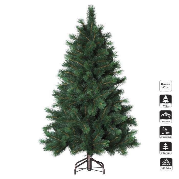 Sapin de no l artificiel pin de l 39 alaska h 180 cm vert achat vente sapin arbre de - Sapin de noel artificiel 180 cm ...