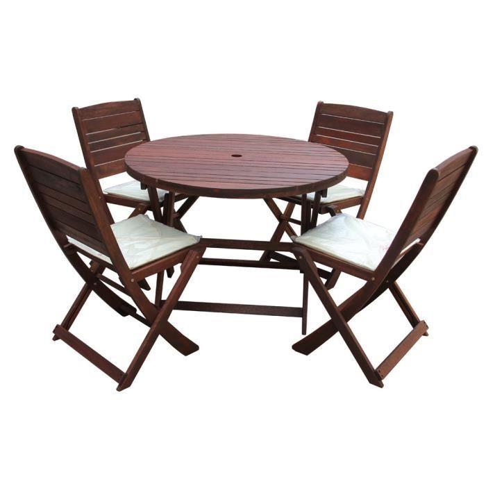 Salon de jardin complet en bois exo 100 cm achat vente salon de jardin salon de jardin Salon de jardin bois cdiscount
