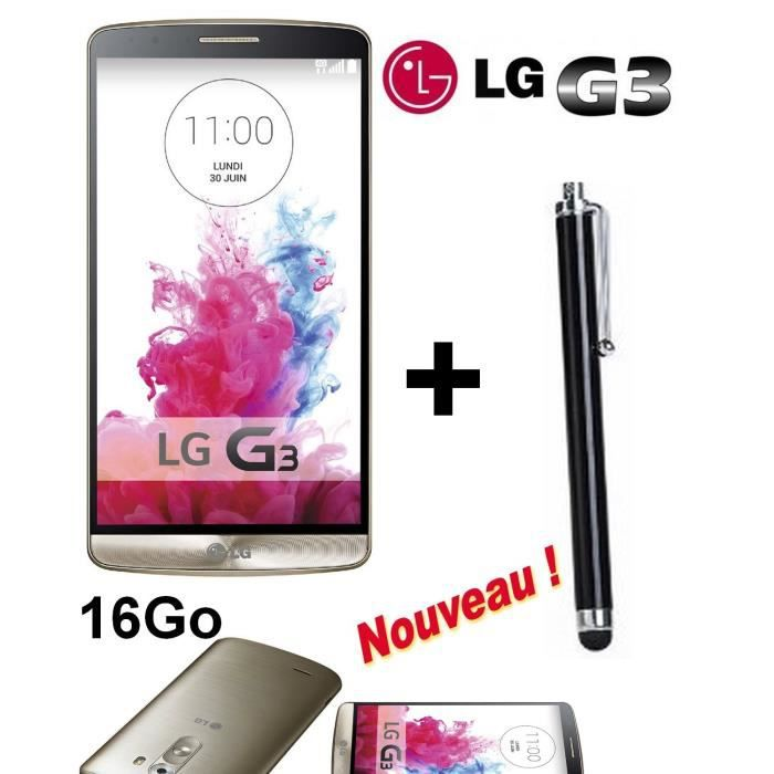 lg g3 d855 gold neuf 16go stylet new achat. Black Bedroom Furniture Sets. Home Design Ideas