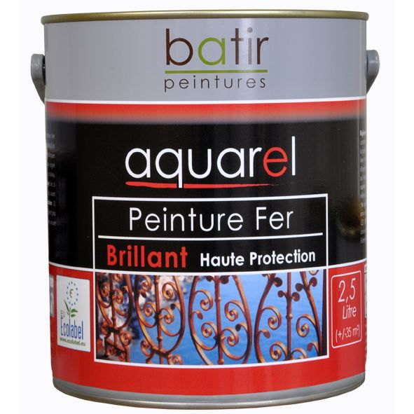 peinture fer brillante aquarel 2 5l achat vente peinture vernis peinture fer brillante. Black Bedroom Furniture Sets. Home Design Ideas