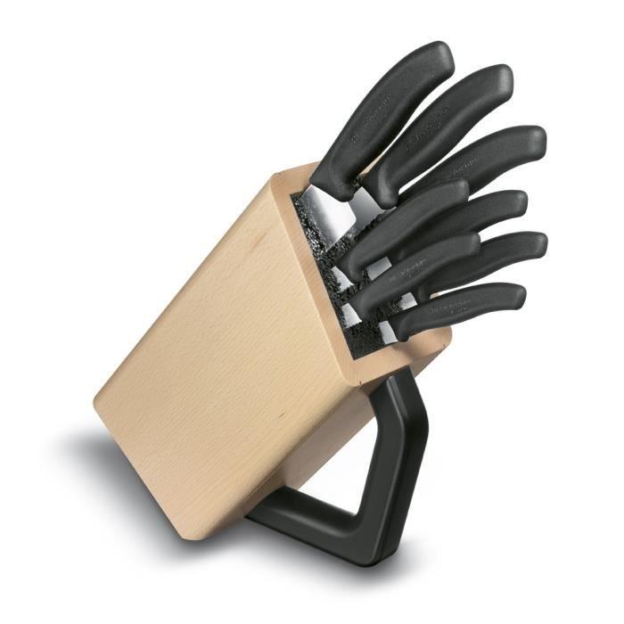 Bloc 8 couteaux de cuisine swissclassic victori achat - Bloc couteau de cuisine ...