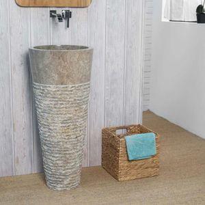 Vasque sur pied achat vente vasque sur pied pas cher for Meuble salle de bain 1 vasque sur pied