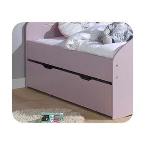 lit tiroir 90x190 sommier achat vente lit tiroir 90x190 sommier pas cher cdiscount. Black Bedroom Furniture Sets. Home Design Ideas