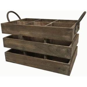 Caisse en bois anciennes achat vente caisse en bois for Meuble porte bouteille vin