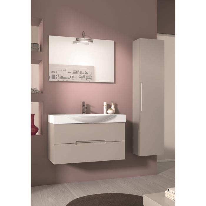 Agata meuble pour salle de bains avec vier et miroir avec for Evier salle de bain avec meuble
