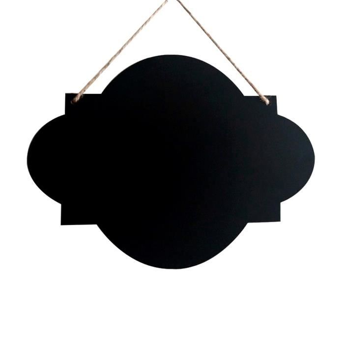 Mini tableau noir mural suspendu cr atif 20x23 cm avec ficelles chiffon et craies forme de - Tableau noir enfant ...
